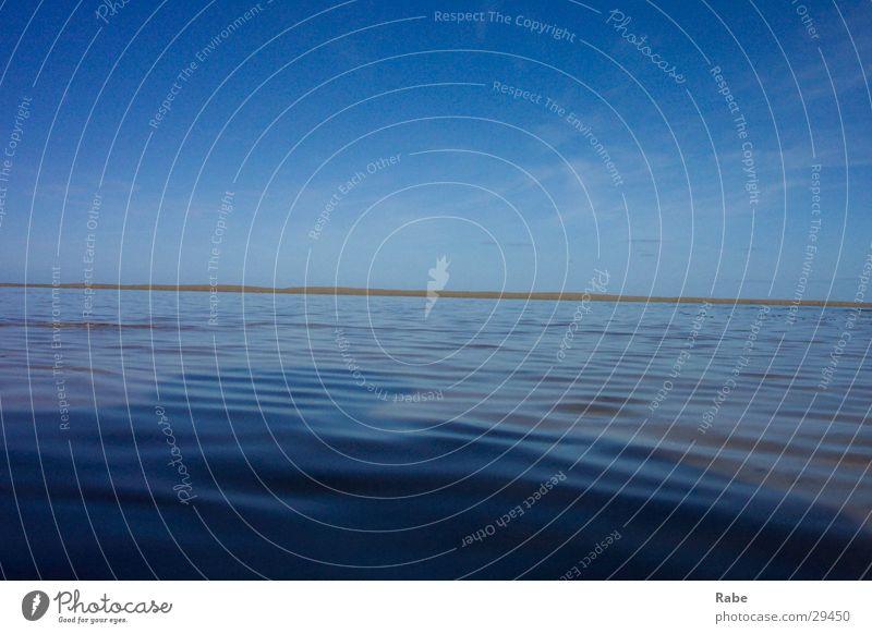 Texel 2003 Niederlande Strand Meer Insel Nordsee Menschenleer Wasseroberfläche Schönes Wetter wellenlos