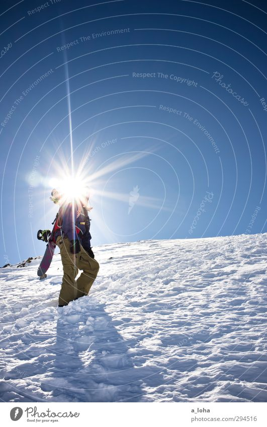 100 suns Mensch Natur Mann blau weiß Sonne Ferne Winter kalt Berge u. Gebirge Erwachsene Umwelt Wege & Pfade Schnee Sport Lifestyle