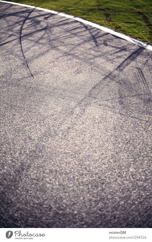 Offroad. Kunst ästhetisch Rennsport Rennbahn Asphalt Reifenspuren Geschwindigkeit Geschwindigkeitsrausch Unfall Wiese Unfallhilfe Bremsspur Formel 1 Bremse