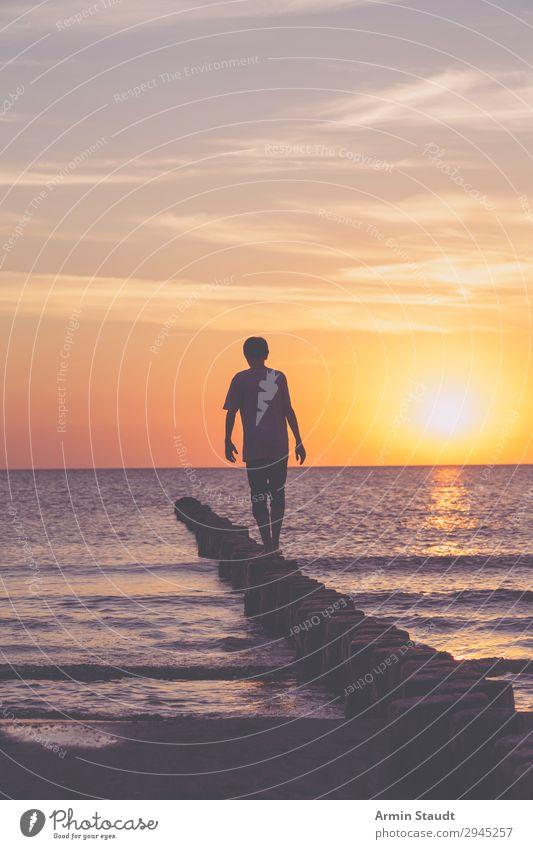 Buhnenwanderung Lifestyle exotisch Leben Wohlgefühl Zufriedenheit Sinnesorgane Erholung ruhig Ferien & Urlaub & Reisen Tourismus Abenteuer Ferne Freiheit
