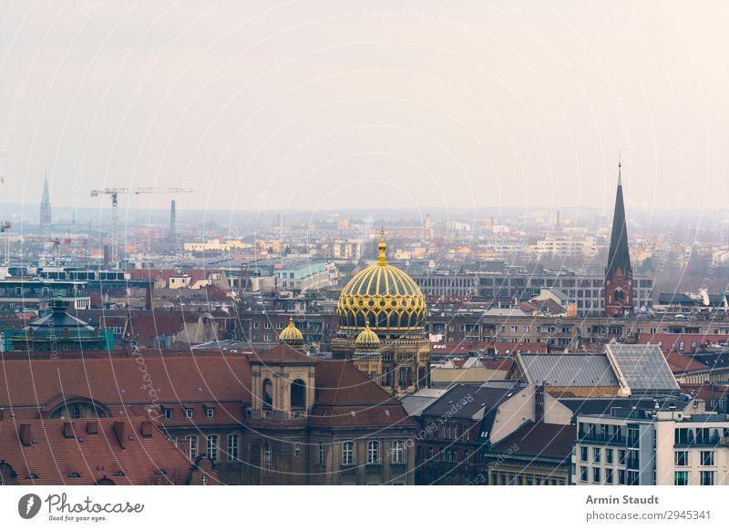Berlin Synagoge Ferien & Urlaub & Reisen alt Stadt Wolken Ferne Religion & Glaube Zeit Tourismus Stimmung Horizont Schönes Wetter Platz Gold Ewigkeit