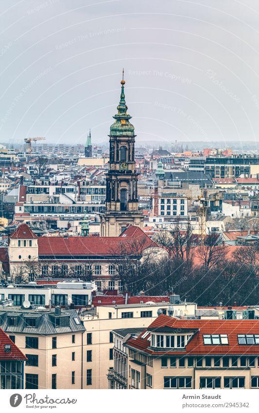 Berlin Ausschnitt Ferien & Urlaub & Reisen alt Stadt Sonne Haus Ferne Religion & Glaube Zeit Tourismus Stimmung Horizont Kirche Vergangenheit Baustelle