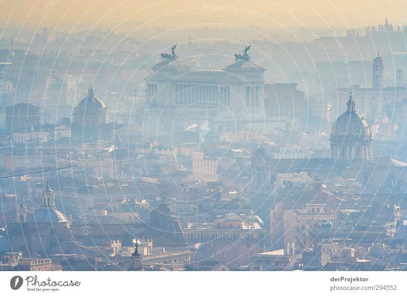 Der weiße Nebel schwebt noch – der neue Papst ist da. Haus Gefühle Skyline Denkmal Wahrzeichen Stadtzentrum Sehenswürdigkeit Dunst Hauptstadt Rom Ehrlichkeit Wahrheit Laster Tugend 2013 Tiber