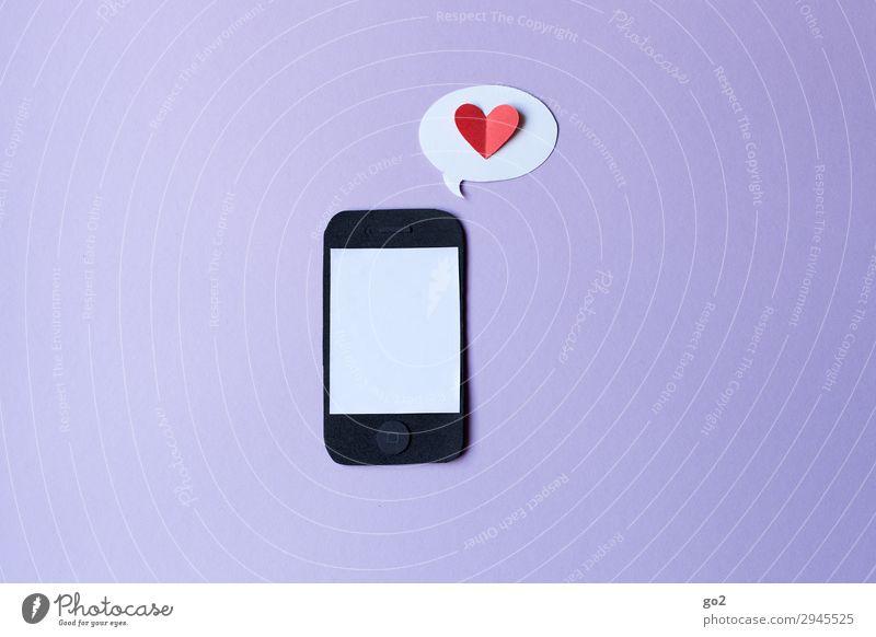 Digital Love Basteln Telekommunikation Handy PDA Technik & Technologie Unterhaltungselektronik Informationstechnologie Internet Papier Zeichen Herz Sprechblase
