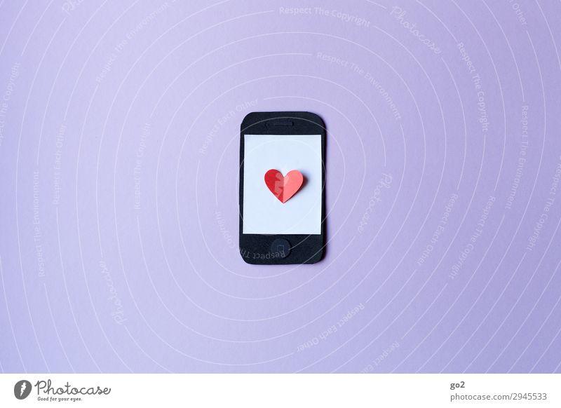 Handyliebe sprechen Liebe Freizeit & Hobby Kommunizieren Technik & Technologie Telekommunikation Herz Zukunft kaufen Zeichen Internet Medien
