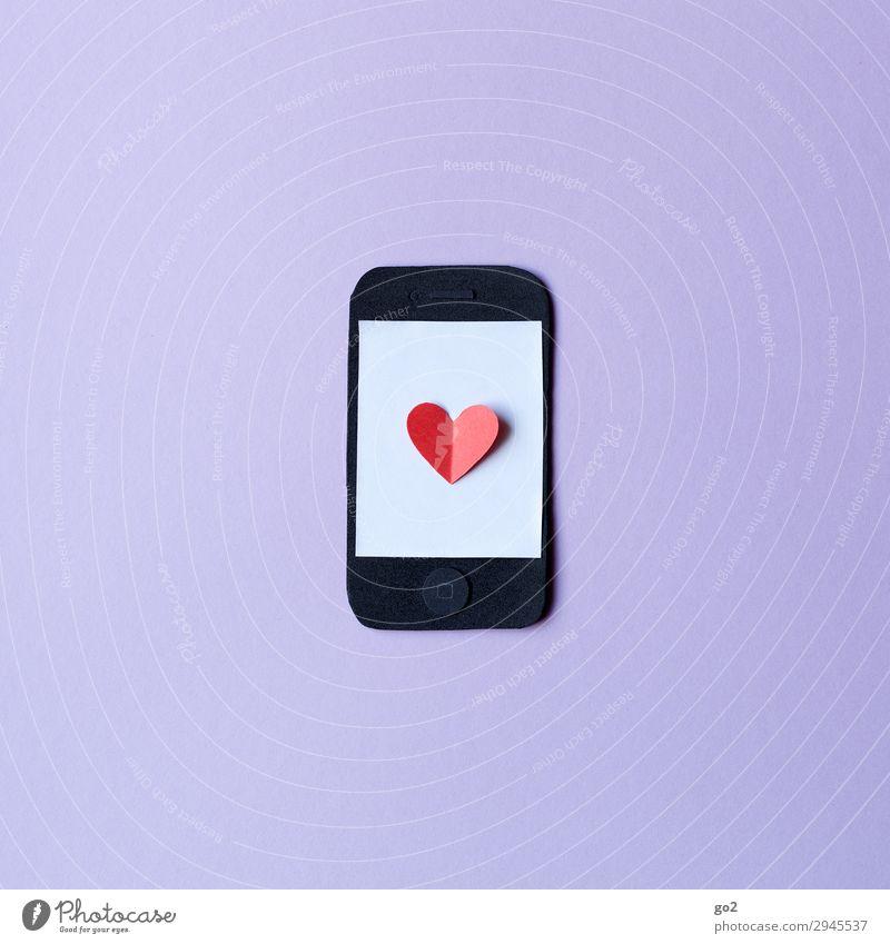Smartphoneliebe Freizeit & Hobby Basteln Handy PDA Technik & Technologie Unterhaltungselektronik Informationstechnologie Internet Zeichen Herz Fortschritt