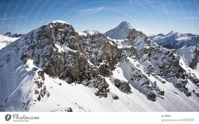 gives you hell Himmel Natur blau weiß Einsamkeit Wolken Landschaft Winter Umwelt Ferne Berge u. Gebirge kalt Schnee grau Horizont natürlich