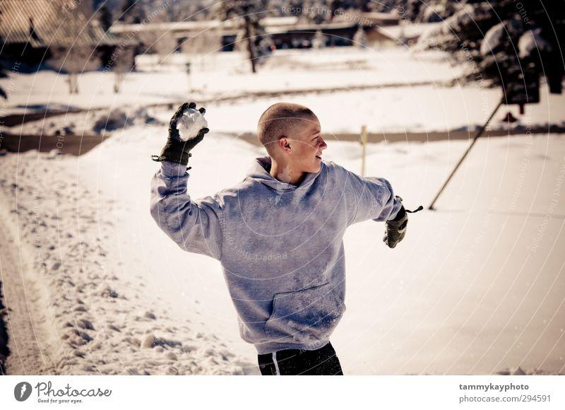 Mensch Kind Jugendliche weiß Freude Winter Schnee Spielen Junge Eis Kindheit Frost genießen Jugendkultur Jacke 8-13 Jahre
