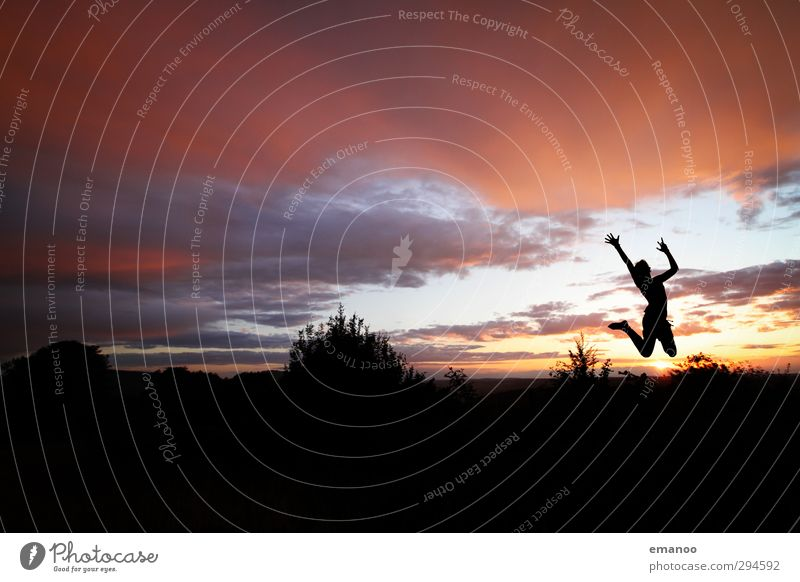 vive la silhouette Lifestyle Stil Freude Wohlgefühl Ferien & Urlaub & Reisen Freiheit Sommer Sonne Sport Tanzen Mensch feminin Frau Erwachsene Jugendliche
