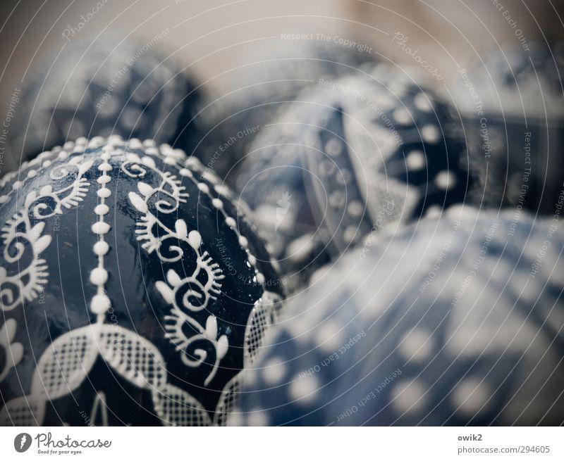 Wenn Oologen träumen blau schön Farbe Kunst Dekoration & Verzierung rund einzigartig viele Ostern Kitsch Kunstwerk bemalt Wert Ornament Vignettierung Souvenir