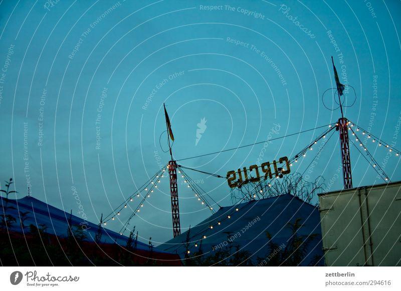 CIRCUS Himmel Freude Wolken Herbst Spielen Dekoration & Verzierung Schriftzeichen Show Kultur Lebensfreude Veranstaltung Jahrmarkt Abenddämmerung Bühne