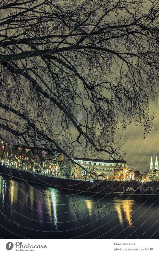 Stadt der Stadtmusikanten Himmel Wasser Pflanze Baum Landschaft Wolken Haus Herbst Architektur Gebäude Park leuchten Fluss Bauwerk Flussufer
