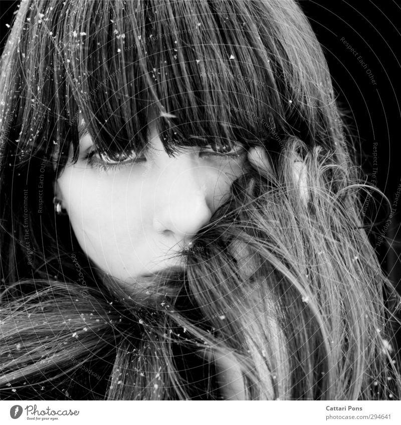 Yukiko Gesicht feminin Junge Frau Jugendliche 18-30 Jahre Erwachsene brünett langhaarig Pony beobachten glänzend Blick einfach einzigartig nah natürlich weich