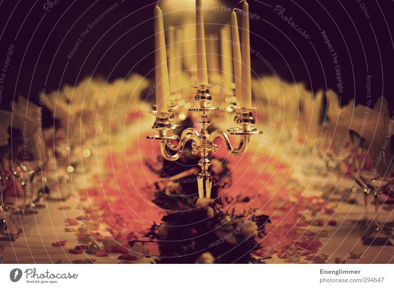 Tafelrunde Kerze Kerzenständer Weinglas Serviette Dekoration & Verzierung Teller blumendekoration Silber Wachs Glas Metall Essen Feste & Feiern ästhetisch