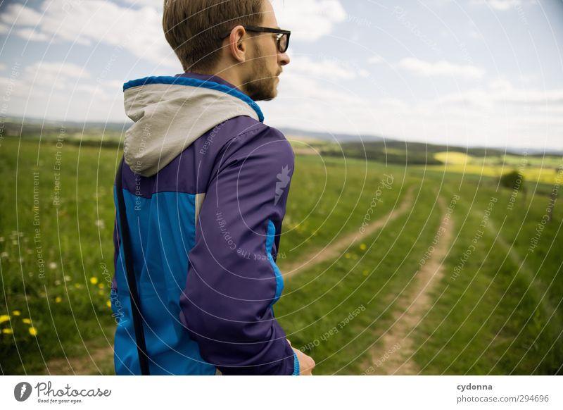 Unterwegs Leben Wohlgefühl Ferien & Urlaub & Reisen Tourismus Ausflug Abenteuer Ferne Freiheit wandern Mensch Junger Mann Jugendliche 18-30 Jahre Erwachsene