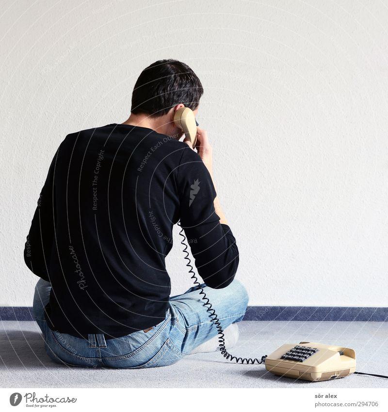 Home-Office Mensch Mann Erwachsene sprechen Business Arbeit & Erwerbstätigkeit Büro maskulin Häusliches Leben Kommunizieren Telefon Telekommunikation