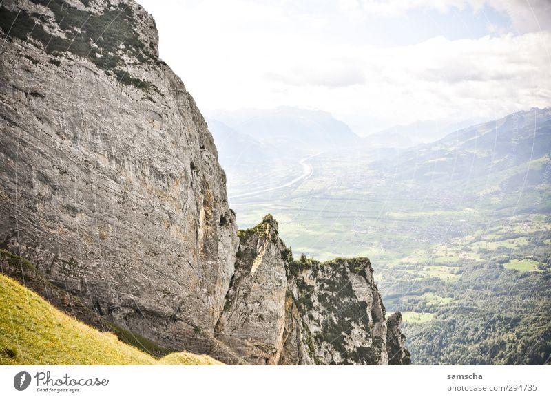 Freiheitsgefühl Ferien & Urlaub & Reisen Tourismus Ausflug Sommer Berge u. Gebirge Umwelt Natur Landschaft Urelemente Himmel Wolken Felsen Alpen frei Alpstein