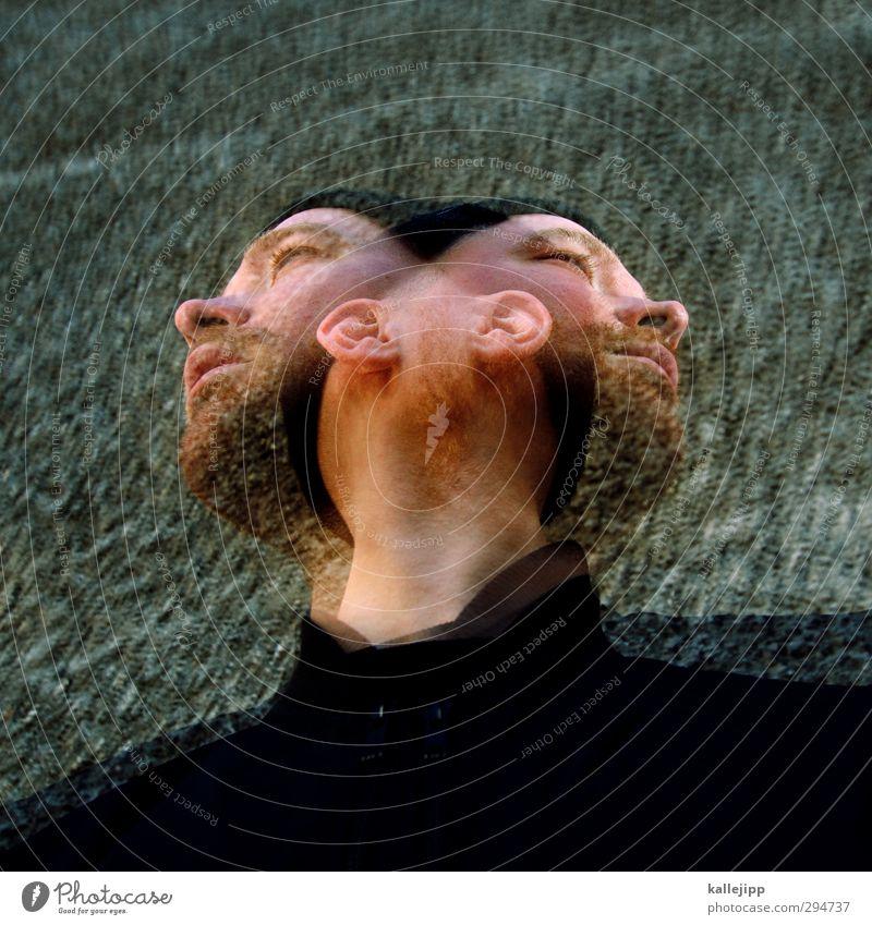 martinis Mensch Bewegung Haare & Frisuren Kopf Bart Mütze Doppelbelichtung Alkoholisiert