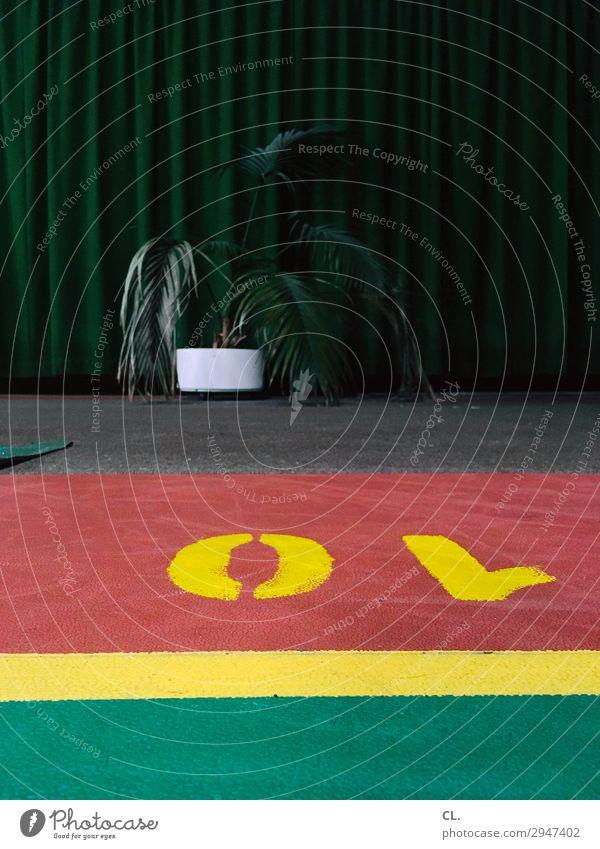 platz 10 Sport Ballsport Badminton Sportstätten Sportveranstaltung Pflanze Topfpflanze Schriftzeichen Linie trist Freizeit & Hobby Farbfoto Innenaufnahme