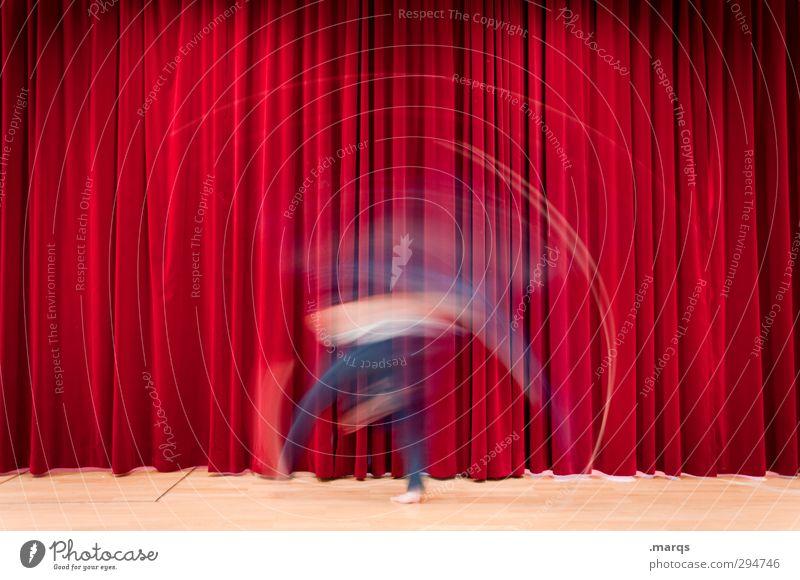 Vorstellung Mensch rot Bewegung Stil Kunst außergewöhnlich Tanzen Geschwindigkeit Show Kultur Medien Veranstaltung Theaterschauspiel Theater skurril Bühne