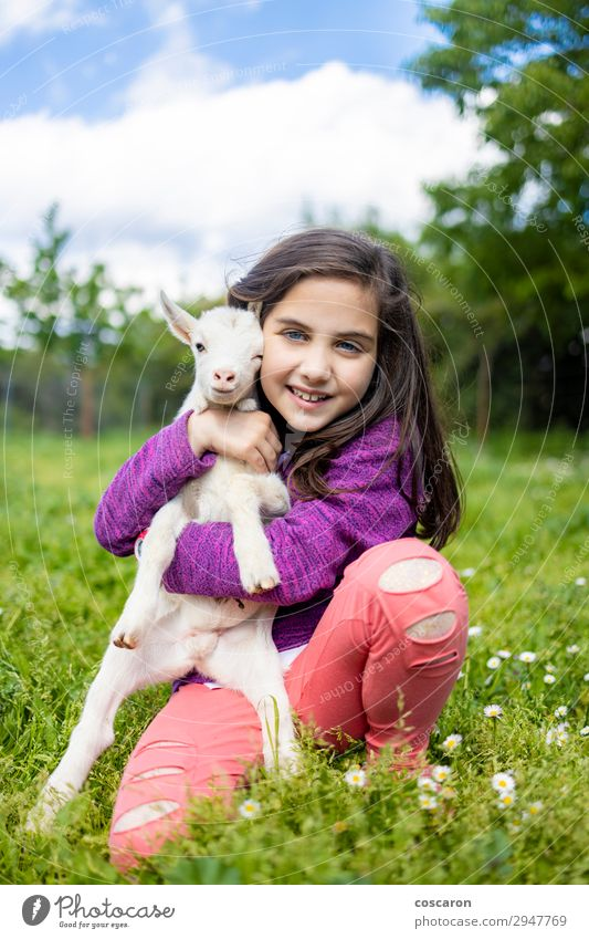 Frau Kind Mensch Himmel Ferien & Urlaub & Reisen Natur Sommer Pflanze schön grün weiß Blume Erholung Tier Freude Mädchen