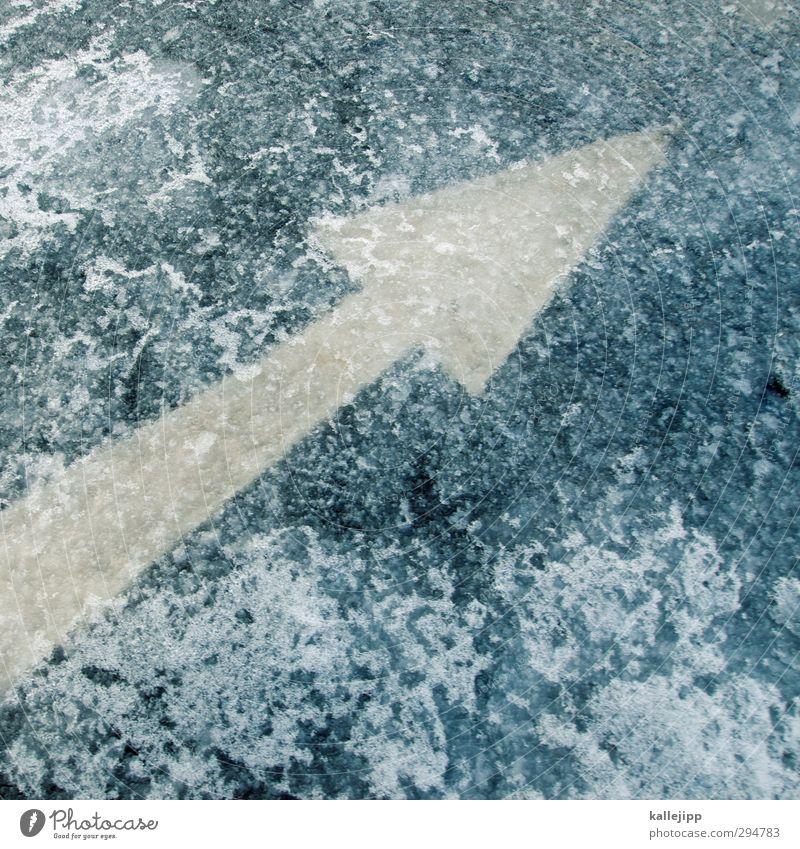 wettertrend Wasser Winter kalt Schnee Straße Schneefall Eis Wetter Klima Verkehr Frost Zeichen Pfeil trendy Verkehrswege Richtung