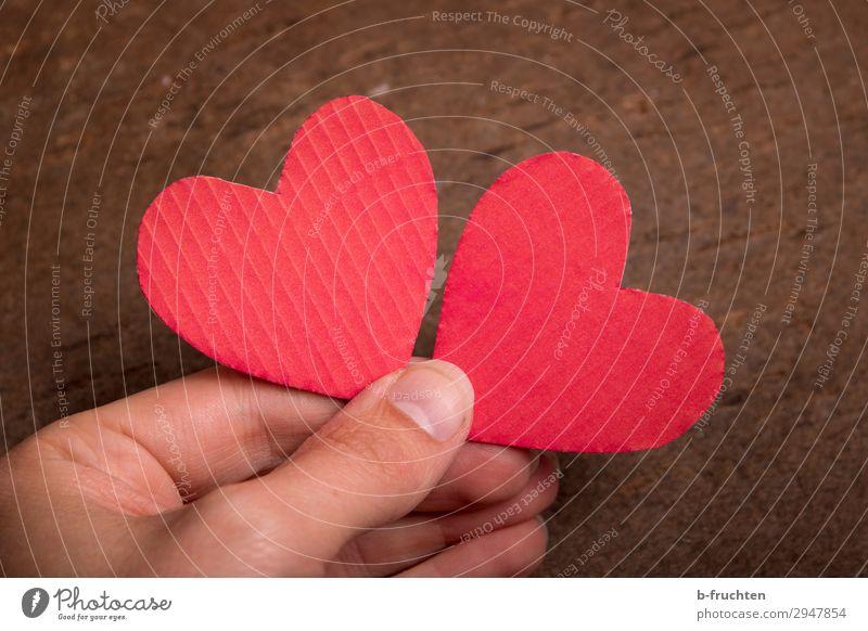 Verliebt sein harmonisch Zufriedenheit Hochzeit Team Finger Zeichen Herz wählen festhalten Liebe Glück rot Zusammensein Verliebtheit Treue Romantik