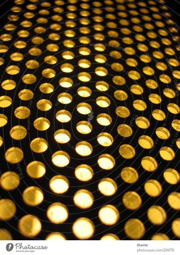 Elevator Licht gelb Fahrstuhl Loch Lampe Industrie Detailaufnahme