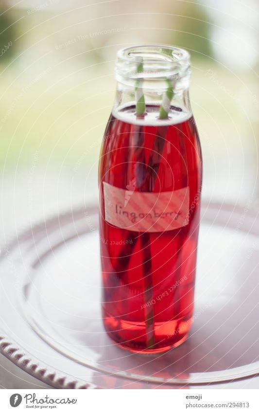 lingonberry juice Ernährung Picknick Getränk Erfrischungsgetränk Limonade Saft lecker rot Flasche Glasflasche Farbfoto Nahaufnahme Menschenleer