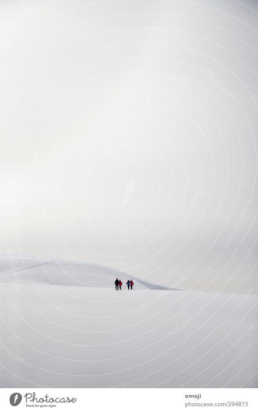 Schneeschuhläufer Mensch Himmel Natur weiß Wolken Winter Umwelt Ferne Berge u. Gebirge kalt Menschengruppe hell Alpen Gipfel Schneebedeckte Gipfel