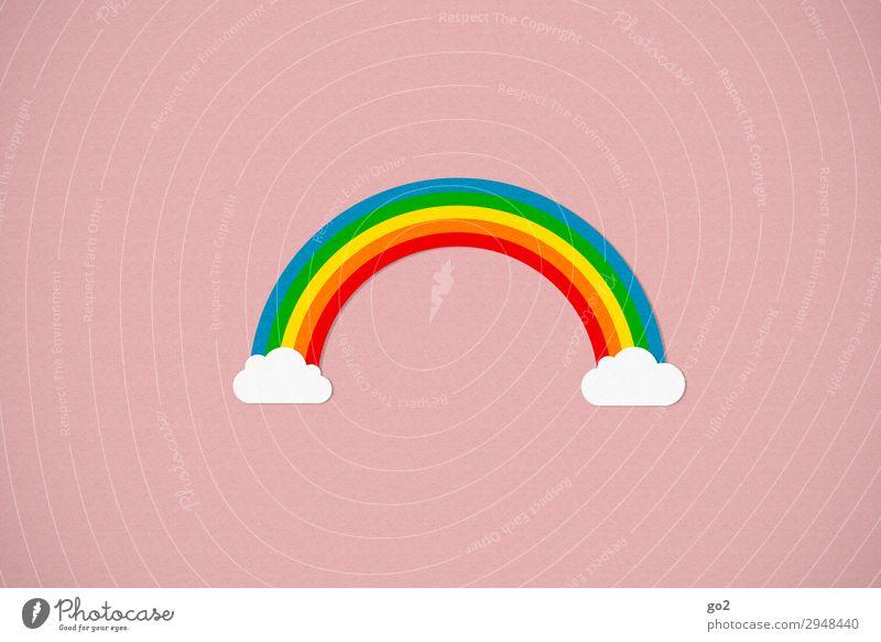 Regenbogen Klima Wetter Schönes Wetter Zeichen außergewöhnlich Fröhlichkeit Toleranz einzigartig erleben Farbe Ferien & Urlaub & Reisen Freiheit