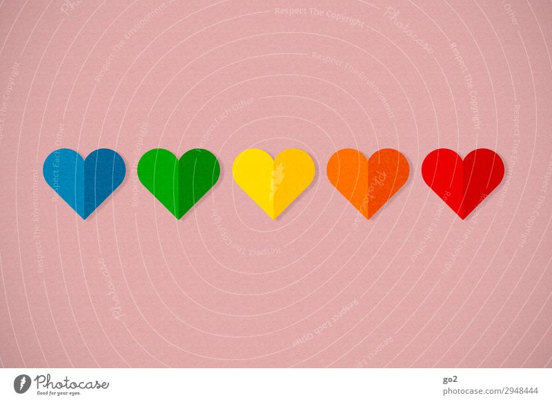 Bunte Herzen Valentinstag Muttertag Hochzeit Geburtstag Dekoration & Verzierung Zeichen Gefühle Glück Fröhlichkeit Lebensfreude Frühlingsgefühle Vorfreude