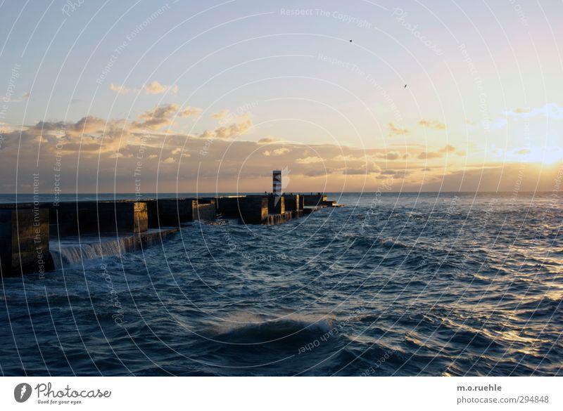 atlantisch Himmel Natur Ferien & Urlaub & Reisen Sommer Sonne Meer Einsamkeit Landschaft Umwelt Ferne Gefühle Freiheit Küste Horizont Stimmung Wellen