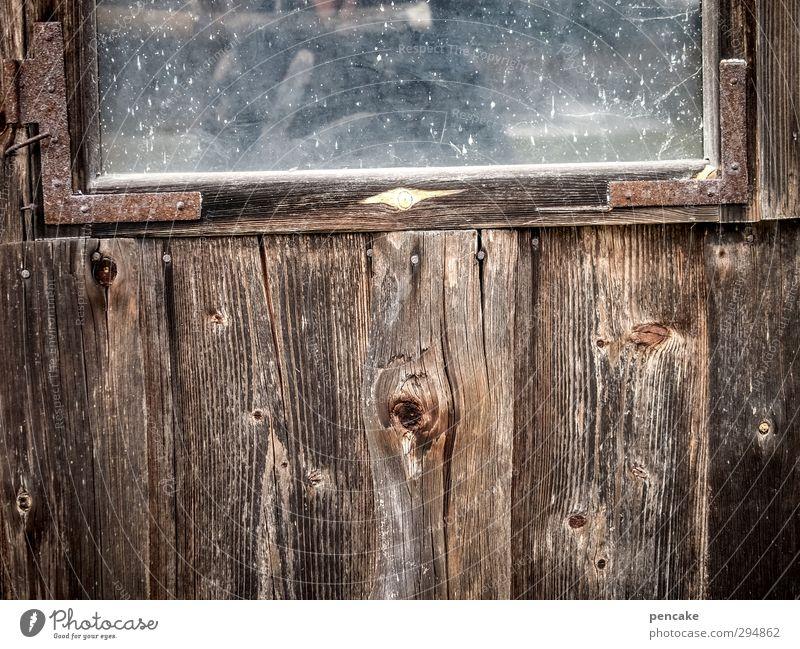 dark side of allgäu   trübness Kultur Kino Himmel Klima schlechtes Wetter Hütte Fassade Fenster Holz Glas Metall Gefühle Stimmung Müdigkeit Einsamkeit Scham