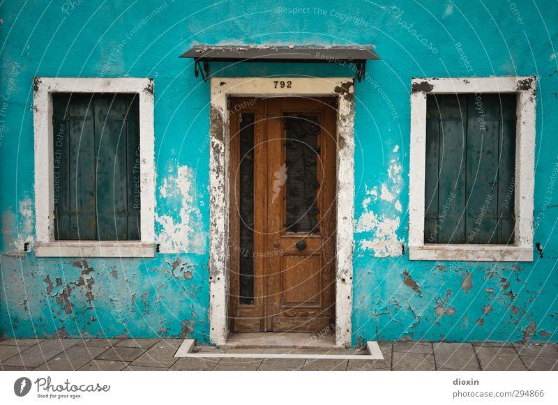 Burano -2- Ferien & Urlaub & Reisen alt Stadt Haus Fenster Wand Architektur Mauer Gebäude Fassade Tür Insel Häusliches Leben Tourismus Italien Dorf