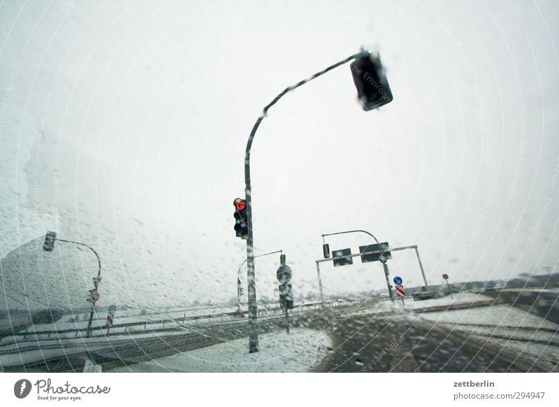 Malchow Himmel Ferien & Urlaub & Reisen Landschaft Winter kalt Schnee Straße Schneefall Eis Wetter Klima Verkehr Tourismus Ausflug Abenteuer Frost