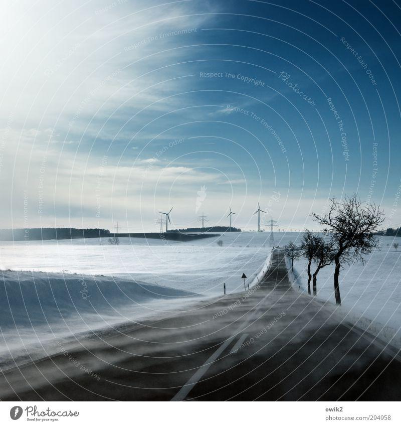 Märzwinter Himmel Natur Ferien & Urlaub & Reisen Baum Landschaft Wolken Winter Umwelt Ferne kalt Schnee Straße Freiheit Horizont Eis Deutschland