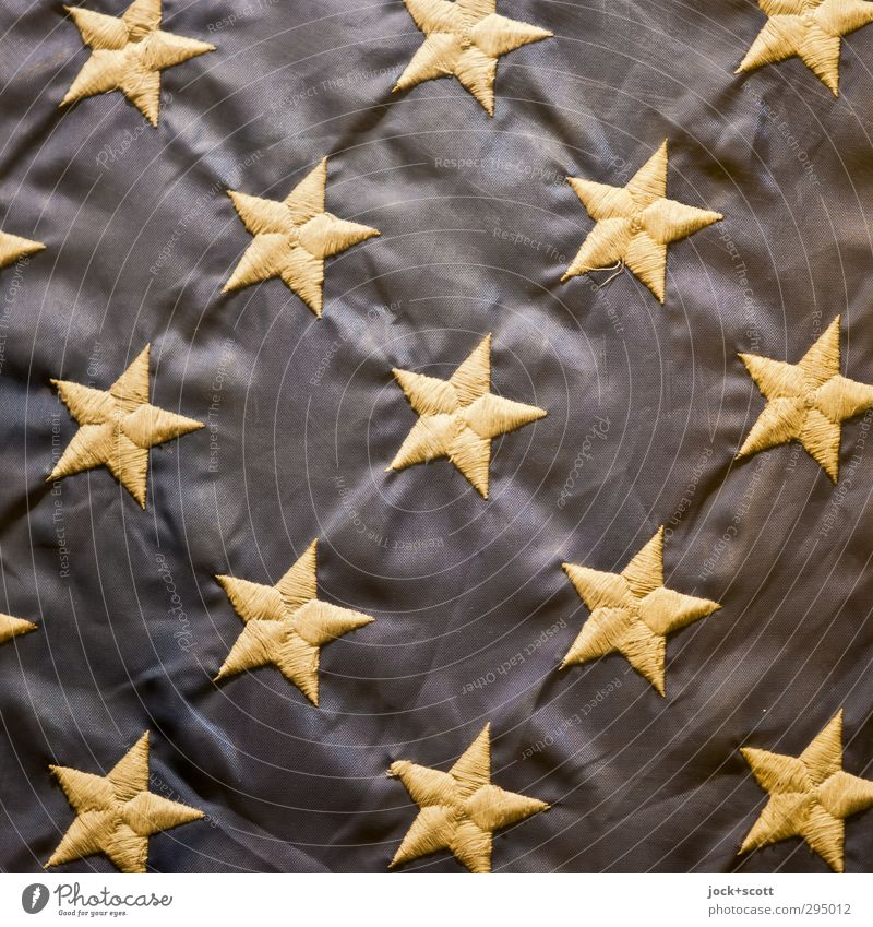 es steht in den Sternen geschrieben Dekoration & Verzierung Stern (Symbol) eckig Originalität gelb Ehre Kultur Politik & Staat Symmetrie Nähgarn Stoff
