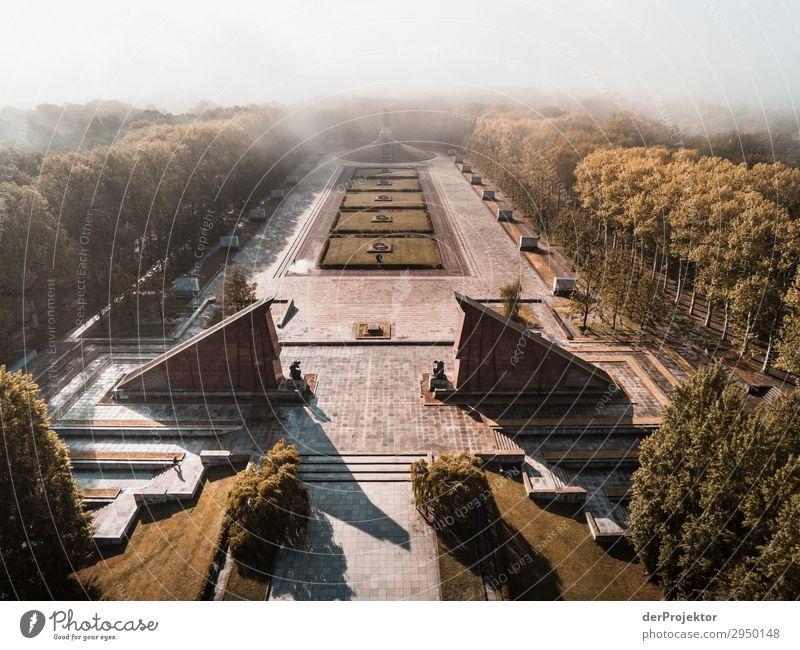 Sowjetisches Ehrenmal in Treptow Ferien & Urlaub & Reisen Tourismus Ausflug Abenteuer Ferne Freiheit Sightseeing Städtereise Sommer Schönes Wetter Park Bauwerk