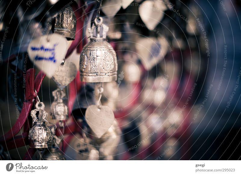auch mal an kleine Glocken hängen blau rot Liebe Glück Religion & Glaube Metall gold Glücksbringer Messing Glockenspiel