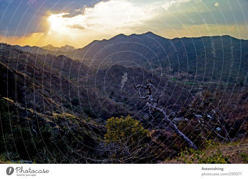 Aravalli Hills - India Umwelt Natur Landschaft Pflanze Luft Himmel Wolken Horizont Sonne Sonnenaufgang Sonnenuntergang Sonnenlicht Frühling Wetter