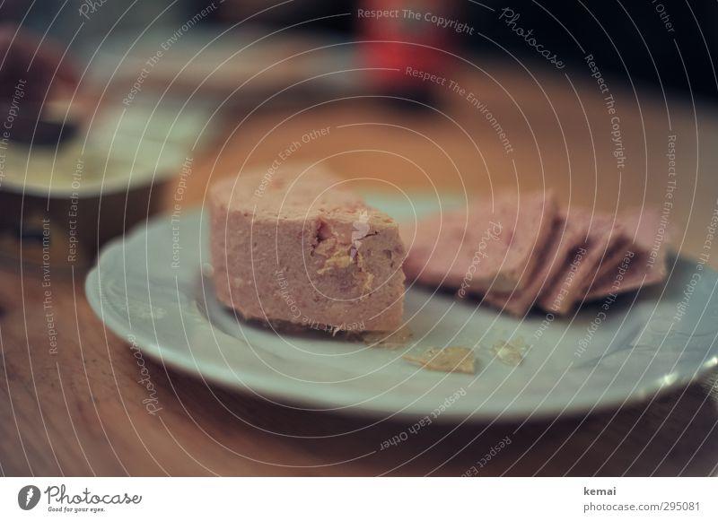 Dosenwurst Lebensmittel Ernährung Teile u. Stücke lecker Teller Abendessen Wurstwaren Sülze