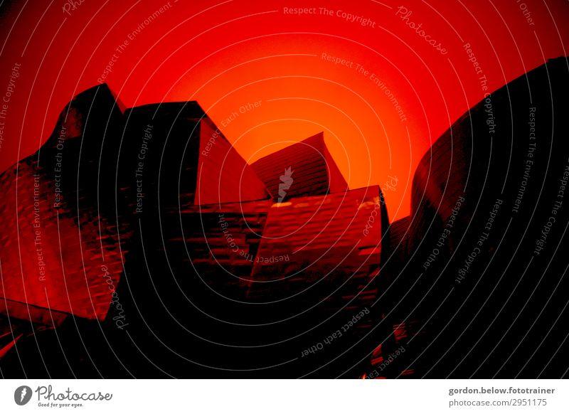 Abstrakt Kunst Kunstwerk Architektur Stahl beobachten außergewöhnlich stark Wärme braun gelb gold orange rot schwarz Farbfoto Innenaufnahme Detailaufnahme