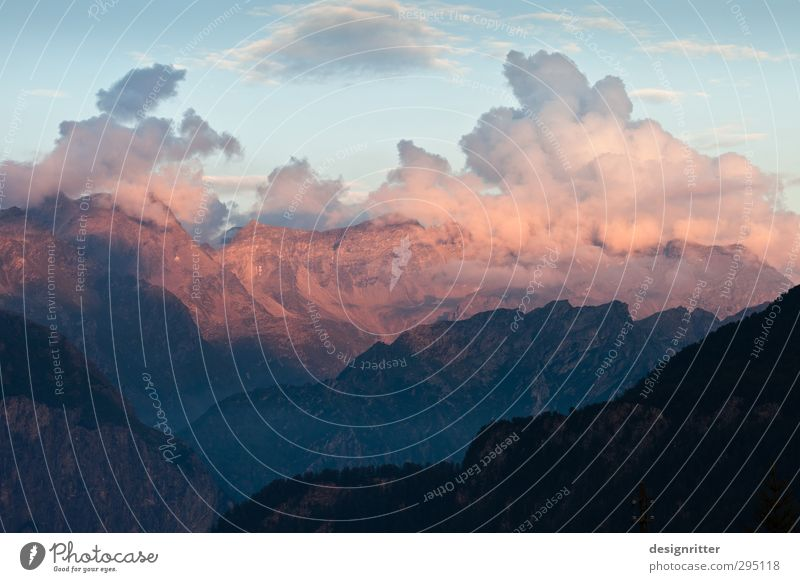 Goldberg Himmel Natur Ferien & Urlaub & Reisen schön Wolken Berge u. Gebirge Bewegung orange groß wandern hoch Schönes Wetter ästhetisch Abenteuer Alpen Gipfel