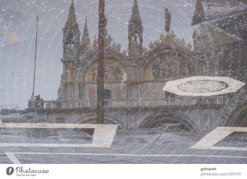 MMM Wasser Winter Venedig Menschenleer Haus Dom Palast Mauer Wand Fassade Sehenswürdigkeit Straße Wege & Pfade nass Stadt Reflexion & Spiegelung Pfütze