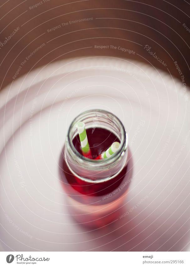 sssschhhlürf Getränk trinken Erfrischungsgetränk Limonade Flasche Trinkhalm lecker süß rosa Glasflasche Farbfoto Innenaufnahme Nahaufnahme Detailaufnahme