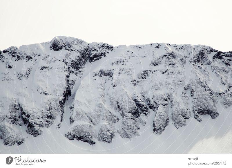 skizze Umwelt Natur Himmel Winter Schnee Felsen Alpen Berge u. Gebirge Gipfel Schneebedeckte Gipfel kalt weiß Schwarzweißfoto Außenaufnahme Menschenleer