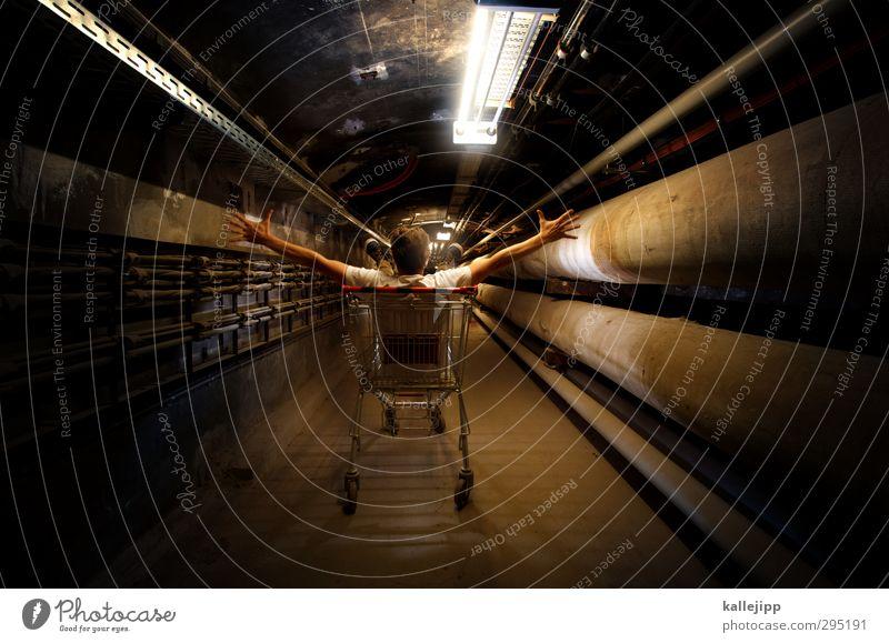 onlineshop Mensch Mann Erwachsene Freiheit maskulin Energiewirtschaft sitzen Arme kaufen Stahlkabel Röhren Handel Informationstechnologie bezahlen Tunnel
