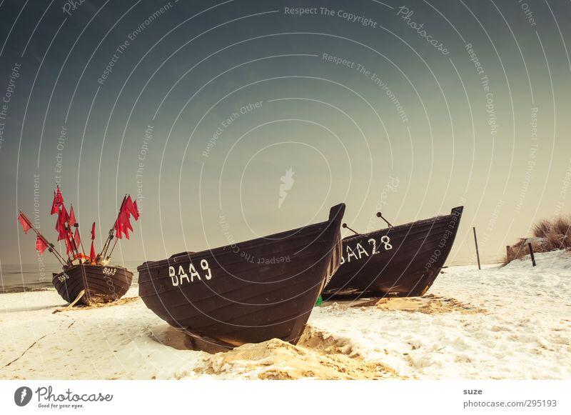 Een, twej, een twej, drej ruhig Strand Meer Insel Winter Schnee Umwelt Natur Landschaft Urelemente Sand Himmel Wolkenloser Himmel Horizont Küste Ostsee