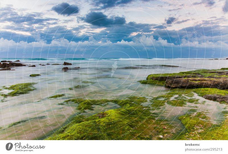 Himmel Wasser Sommer Pflanze Landschaft Wolken Küste Stein Sand Erde Horizont Luft Felsen Stimmung fliegen Wellen